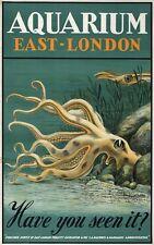 TX328 Vintage 1930's Aquarium East London Railway Travel Poster A1/A2/A3/A4