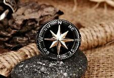 Spezial Verarbeitung Handgemacht Marineblau Kompass 925 Sterling Silber Frau Mit