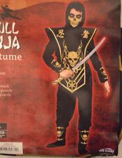 Boy's Halloween Skull Ninja 6 Pc Costume Outfit Size Medium (8-10)