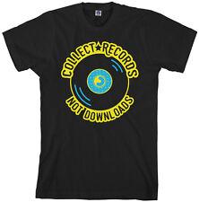 Collect Records Not Downloads Men's T-Shirt Vinyl Music