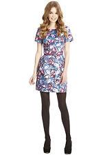 Oasis Structured Petal Blur Print Dress 14