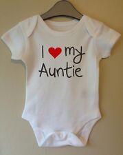 Me encanta mi tía Lindo Bebé Cuerpo crecer Traje Chaleco Niña Niño Ropa Regalo Idea