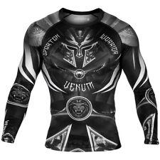 Venum Gladiator 3.0 Long Sleeve MMA Rashguard - Black/White