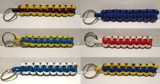 Handmade Paracord Keyring Key Fob NRL Team Colours Titans, Roosters, Broncos...