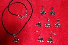 Cheer Mom Charm - Cheerleader Mom Megaphone Charm - Earrings - Necklace