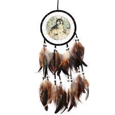 Main Loup Dream Catcher Plume Perle Maison Salon Suspendus Ornement Décor Art