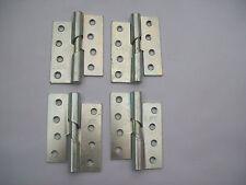 DERECHA O IZQUIERDA 10.2cm PLATA / acero zincado Rising Puerta Bisagras LIBRO x