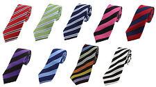 Thin 5.5cm wide Classic Silk Striped Ties