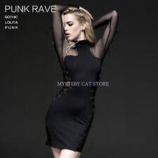 NEW Punk Rave Rock Gothic Net Black Dress Lacing Q-230 ALL STOCK IN AUSTRALIA!