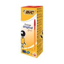 New Bic Orange RED Fine Biro Pen 0.8mm CHOOSE FROM MENU Free Postage UK SELLER