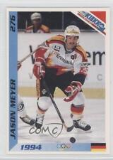 1994 JAA Kiekko Finnish 276 Jason Meyer Team Germany (National Team) Hockey Card