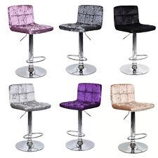 Crushed Velvet Breakfast Kitchen Barstool Bar Stool Dinning Chair Diamante Stone