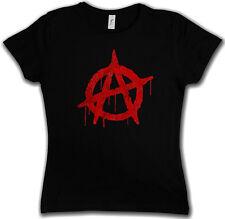 ANARCHY A VINTAGE LOGO GIRLIE SHIRT - Cyber Punk Gothic Rocker Symbol Girl Shirt