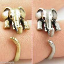 Elephant Festival Boho Retro Animal Adjustable Wrap Finger Ring FREE UK DELIVERY