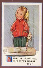 Children MABEL LUCIE ATTWELL Rain 1964 artist drawn PPC