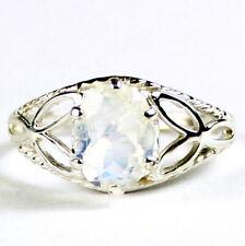 Rainbow Moonstone, 925 Sterling Silver Ladies Ring-Handmade, SR137