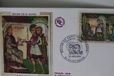 ENVELOPPE PREMIER JOUR SOIE 1969 EGLISE DE SAINT-SAVIN
