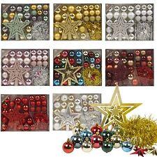 Christmas Tree Decoration 33 piece Set Baubles Accessories Xmas Balls Ornaments
