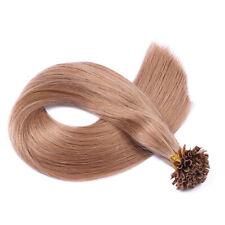 Keratin Bonding (#12 Hellbraun) Hair Extensions 100% Remy Echthaar