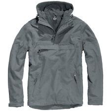 Brandit Classic Tactical Windbreaker Hooded Anorak Mens Jacket Anthracite Grey