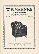 Klubmöbel Mahnke Hamburg Ledermöbel Möbel Reklame 1923