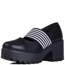 Womens Platform Block Heel Ankle Boots Pumps Sz 5-10