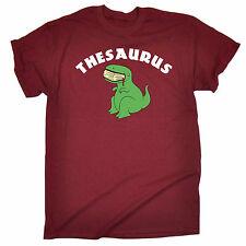 THESAURUS T-REX mangiare libro da uomo T Shirt Compleanno DINOSAURO Carino GEEK NERD regalo