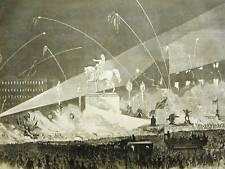 ATLANTIC CABLE FIREMEN UNION SQUARE 1858 Print Matted