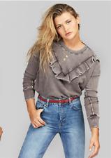 NWT Free People Ooh La Ruffle Sweatshirt Retail $98