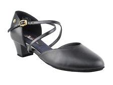 Women's West Coast Swing Salsa Ballroom Dance Shoes low Heel 1.5 VeryFine CD1123