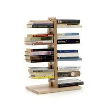 LE ZIE DI MILANO libreria a colonna ZIA BICE in massello di faggio e acciaio