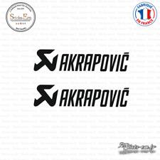 2 Stickers Akrapovic Decal Aufkleber Pegatinas AKR03 Couleurs au choix