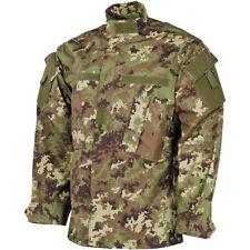MFH Mens ACU Ripstop Uniform Shirt US Army Field Jacket Vegetato Woodland Camo