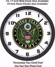 UNITED STATES ARMY LOGO WALL CLOCK-FREE USA SHIP!