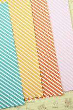 Diagonal Stripes Cardstock 250gsm scrapbooking paper wedding craft card postcard