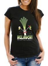 Damen T-Shirt Karneval Fasching Fastnacht Helauch Lauch Helau lustig Fun-Shirt