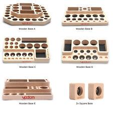 VPDAM Wooden Base Holz Ständer für Verdampfer Atomizer Akkuträger DripTip Vape