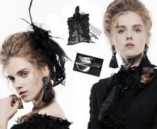 Broche barrette gothique lolita victorien dentelle roses ruban plume Punkrave