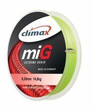 (0,10€/m) Climax miG extreme gelb 10m 0,04-0,50 geflochtene Hochleistungsschnur