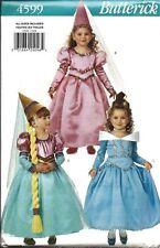 4599 UNCUT Butterick SEWING Pattern Girls Dress Hat Belt Costume FF Dress Up OOP