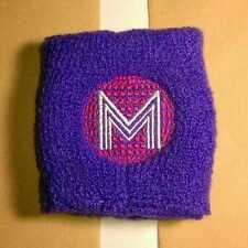 New Nip Madonna Confessions Tour Purple Pink M Stretch Fabric Bracelet Wristband