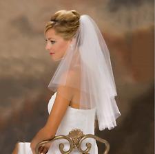 Schleier Brautschleier 2 Lagen mit Kamm 2-lagig Hochzeit Braut NEU Tüll Hochzeit