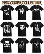 HALLOWEEN T SHIRTS COSTUME T-SHIRT Pumpkin Fancy Dress MEN WOMEN KIDS Skull Cat