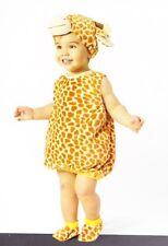 BABY GIRAFFE PLUSH COSTUME 0-6 6-12 Infant Girls Boys Cute Animal Halloween NEW