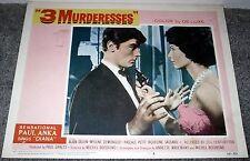 ALAIN DELON/PASCALE PETIT original 1960 11x14 lobby card poster 3 MURDERESSES