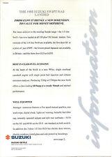 SUZUKI SWIFT 1.0 1995 PRESS RELEASE LAUNCH    *POST FREE UK *