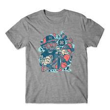 Skateboard Skull T-Shirt 100% Cotton Premium Tee New
