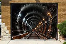 3D Tunnel De Rail 985 Garage Porte Peint en Autocollant Murale AJ WALLPAPER FR
