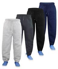 New Mens Jogging Bottom Fleece Joggers Open Hem With 3 Zip Pockets S - 6XL