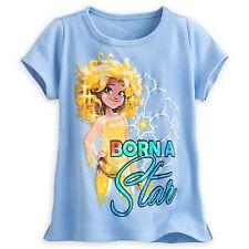 """DISNEY STORE STAR DARLINGS LEONA TEE T-SHIRT GLITTERING """"BORN A STAR"""" TEXT NWT"""